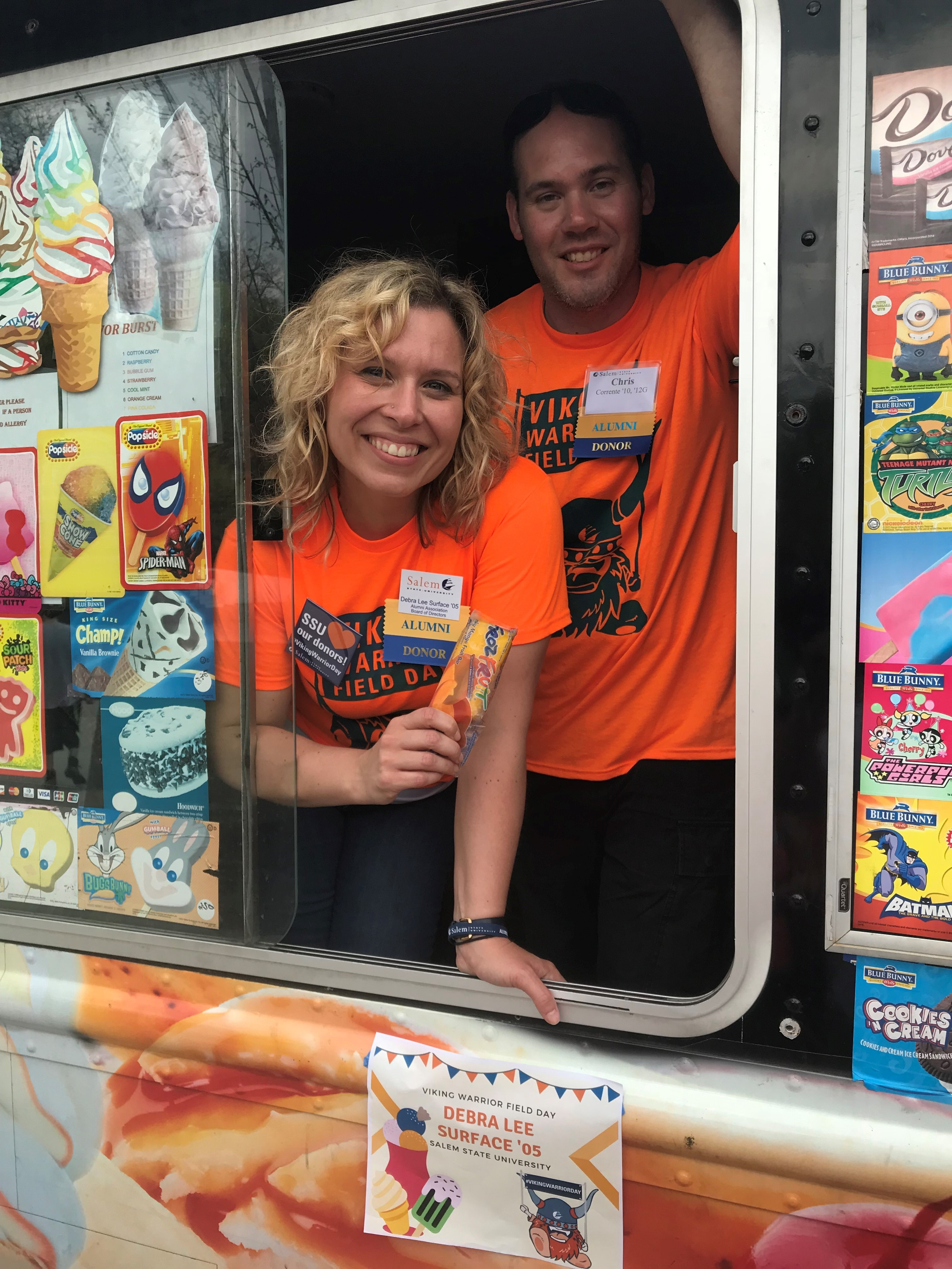 Celebrity Ice Cream Scoopers for Viking Warrior Day